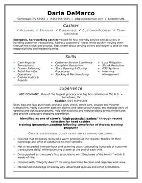 Cashier Sample Resume Amazing Cashier Resume Sample  Sample Resume And Career Advice
