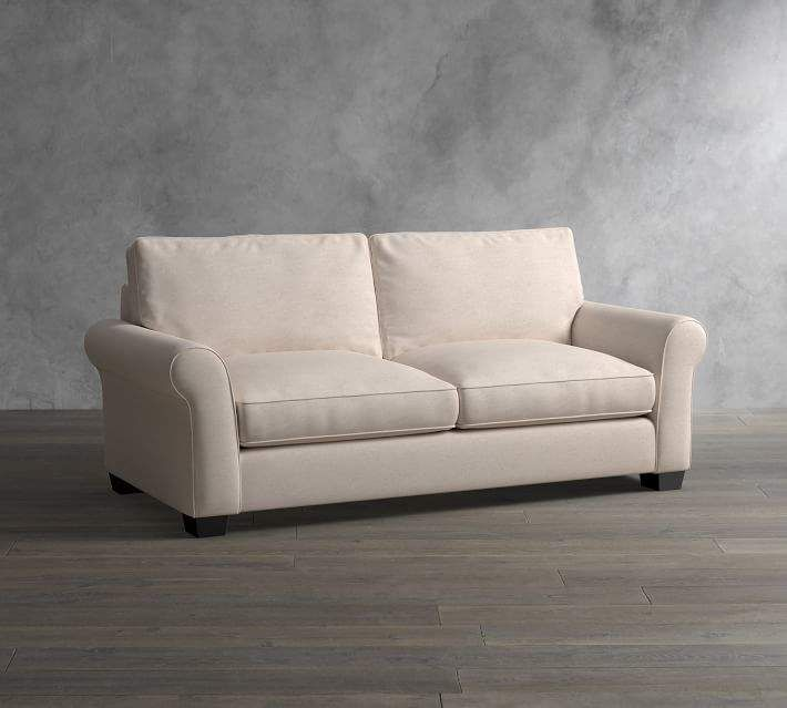 Pottery Barn Pb Comfort Roll Arm Upholstered Deluxe Sleeper Sofa