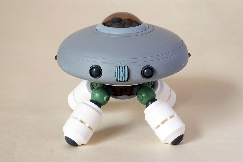 Jake Parker Inspired Chibi Robot Scratchbuild Vaisseau Maquette