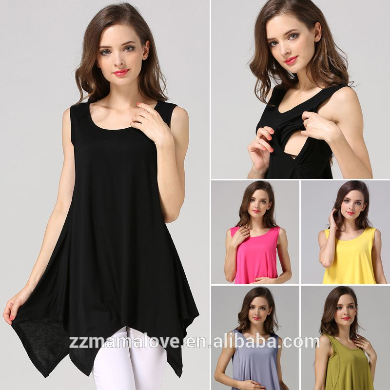 Wholesale MamaLove Summer Maternity Clothes Sleeveless Cotton Maternity  Tops Nursing clothing Breast feeding Vest for Pregnant 50af95736