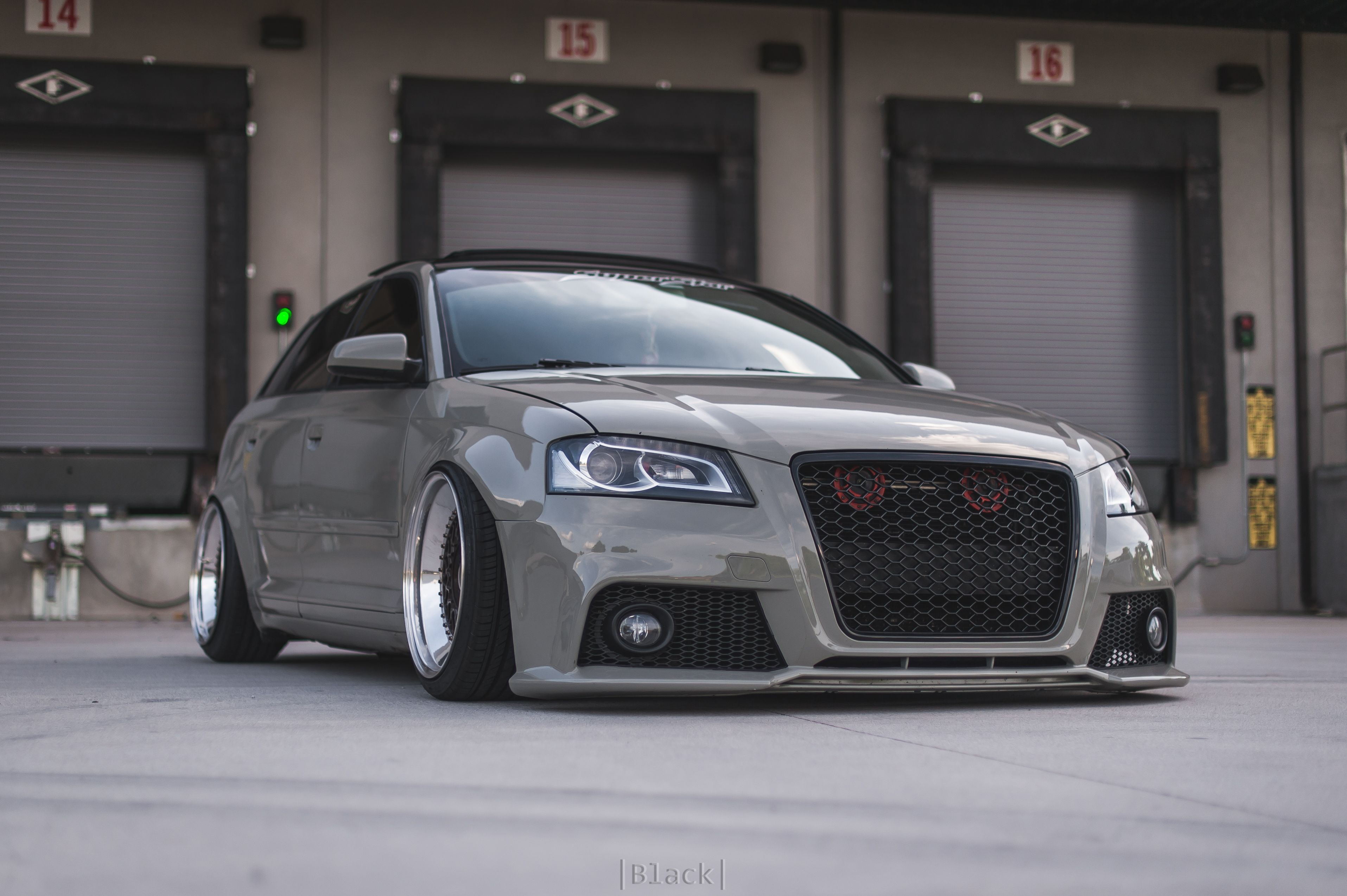 stanced out bagged up audi a3 sportback 8p with bbs rs. Black Bedroom Furniture Sets. Home Design Ideas
