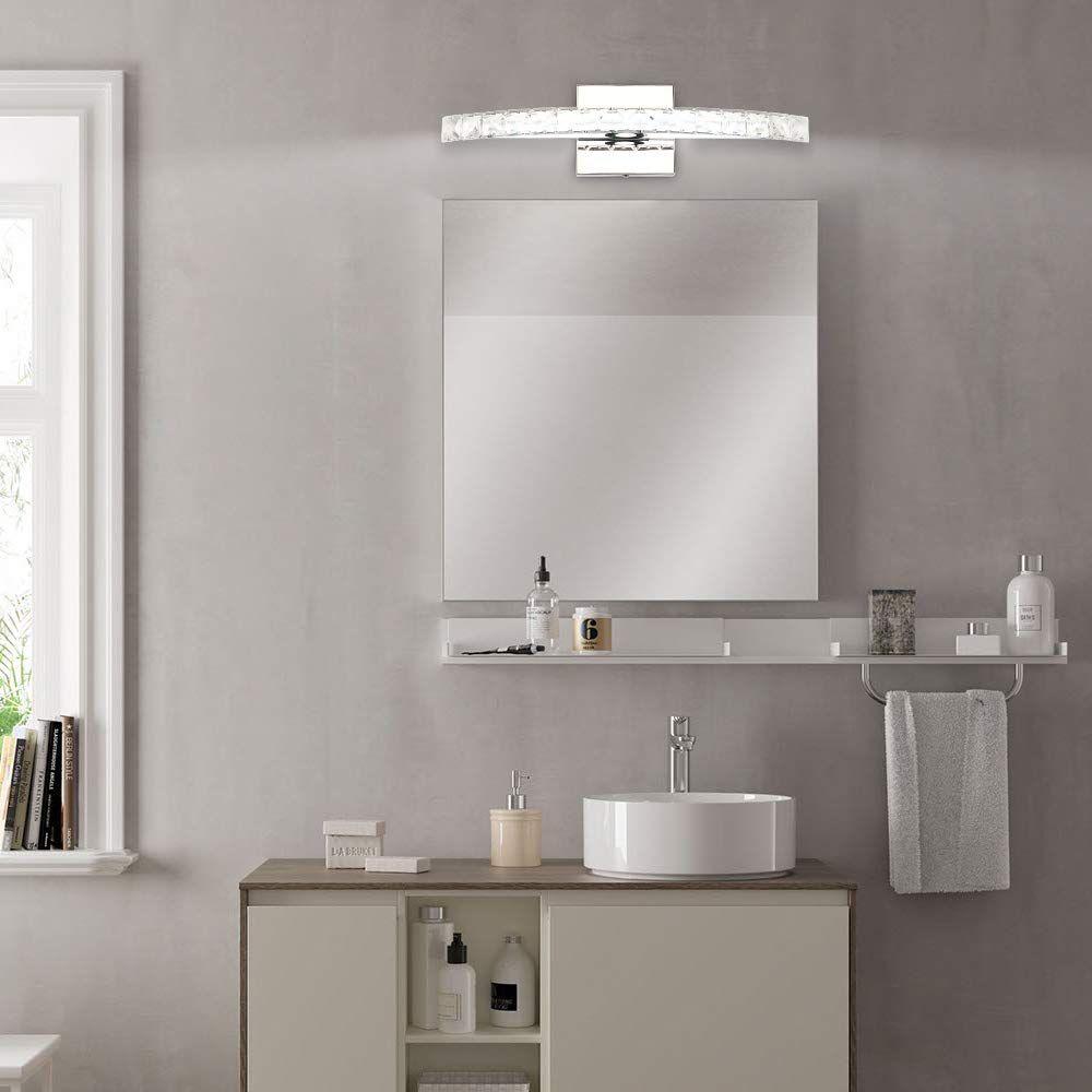 Led Vanity Lights 17 3in 10w Bathroom Vanity Light Fixtures Crystal Modern Vanity Lights Modern Bathroom Light Fixtures Bedroom Light Fixtures Crystal Bathroom