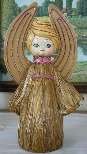 Vtg 1960s ANGEL Figurine 11.5\