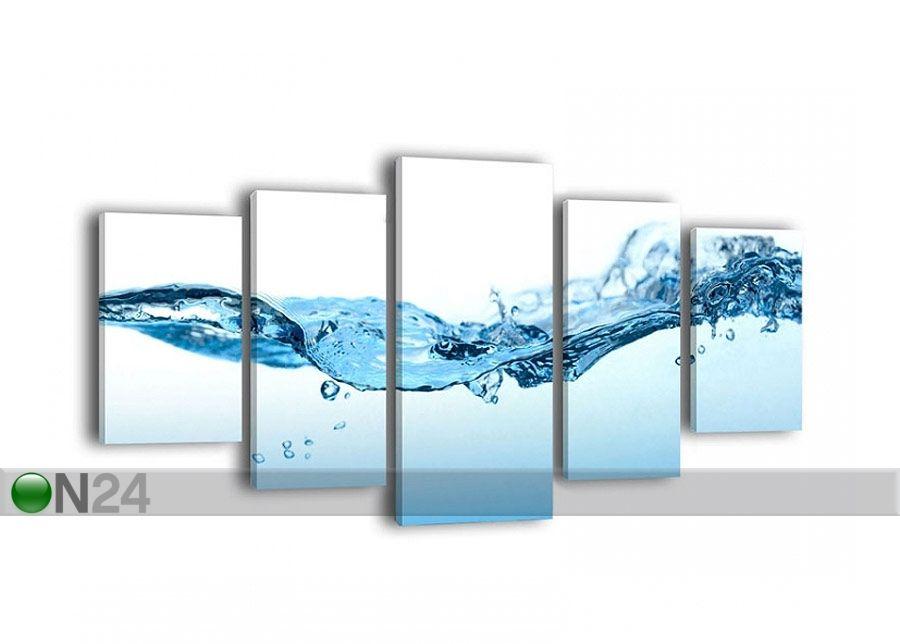 Viisiosainen paneeli seinätaulu WATER SURFACE 210x100 cm ED-65327 - ON24 Sisustustavaratalo