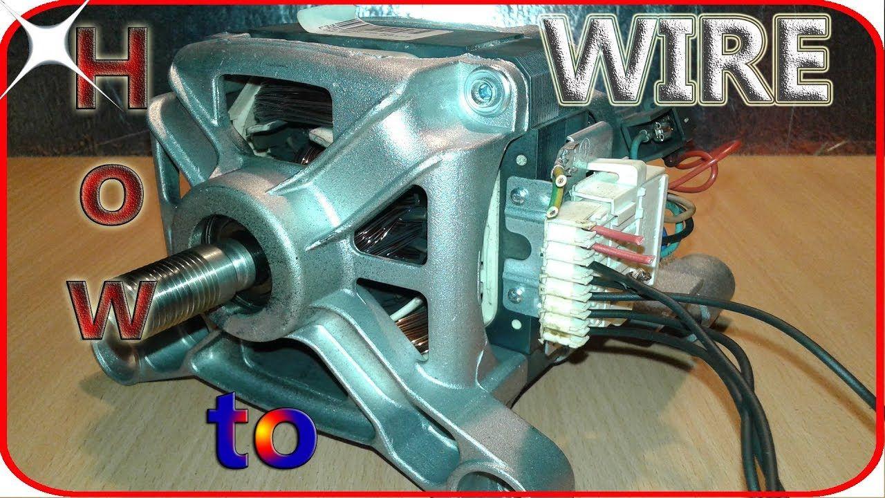 Washing machine motor wiring basics | ELMOTORY | Pinterest | Washing ...