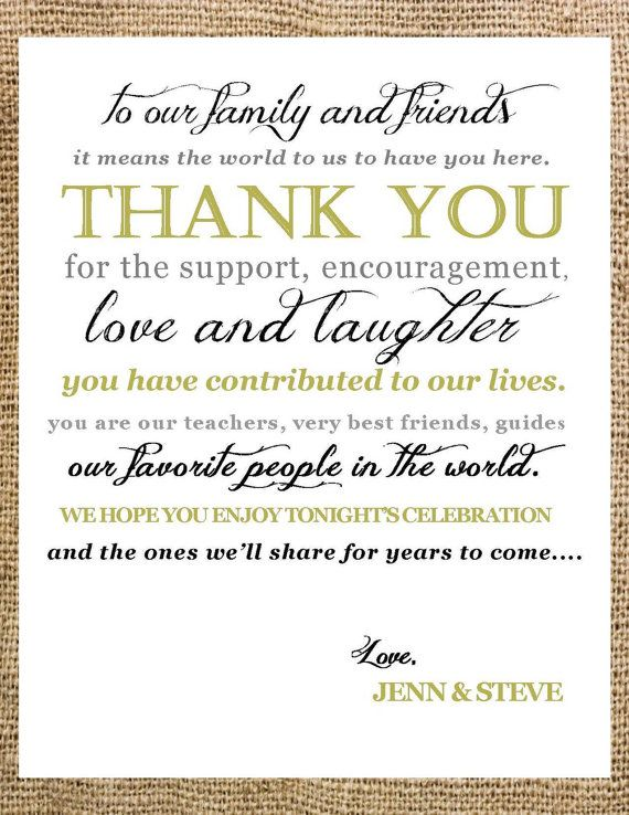 a sweet  - best of thank you letter format wedding