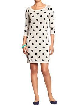 d9a4af0a072 White Polka Dot Sweater Dress (Old Navy)