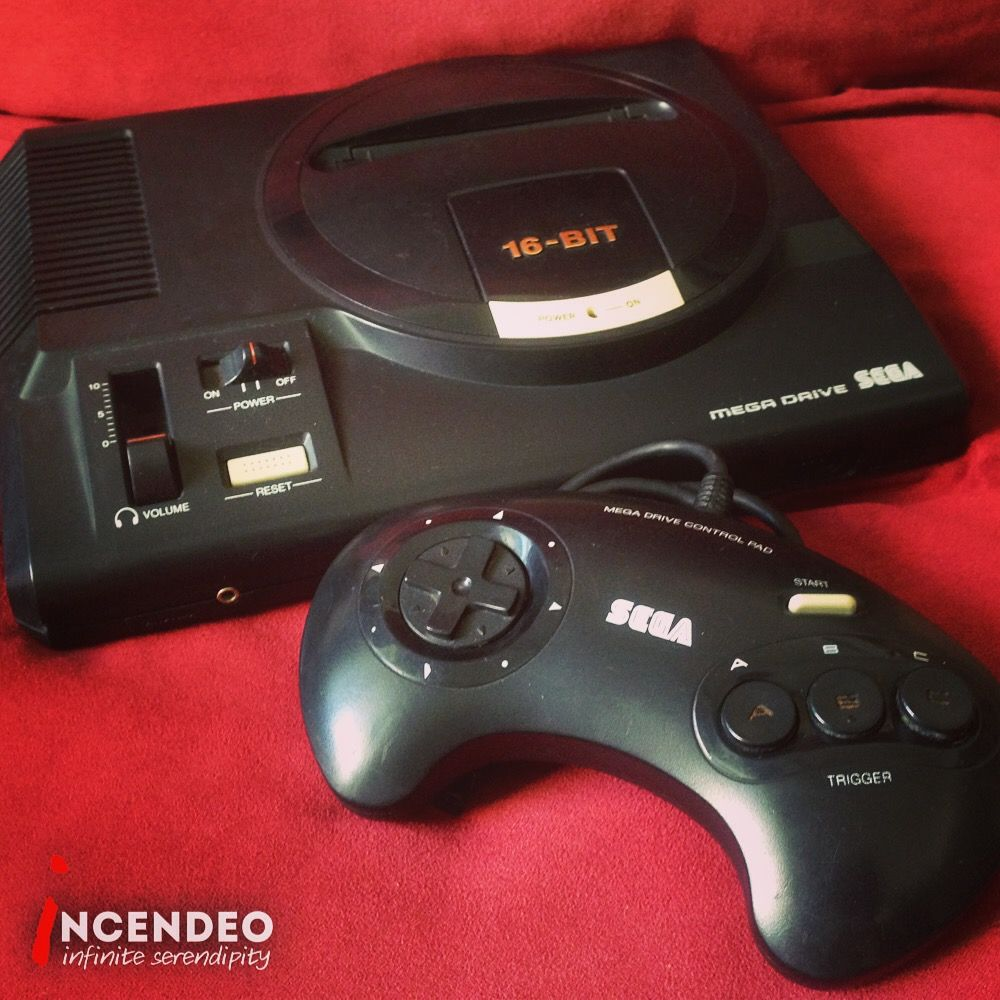 Sega 16-bit Mega Drive Game Console. #sega #16bit #megadrive #gameconsole #game #play #vintage #nostalgia #memory #history #fun #throwback #retro #museum #incendeo #infiniteserendipity #收藏 #游戏机