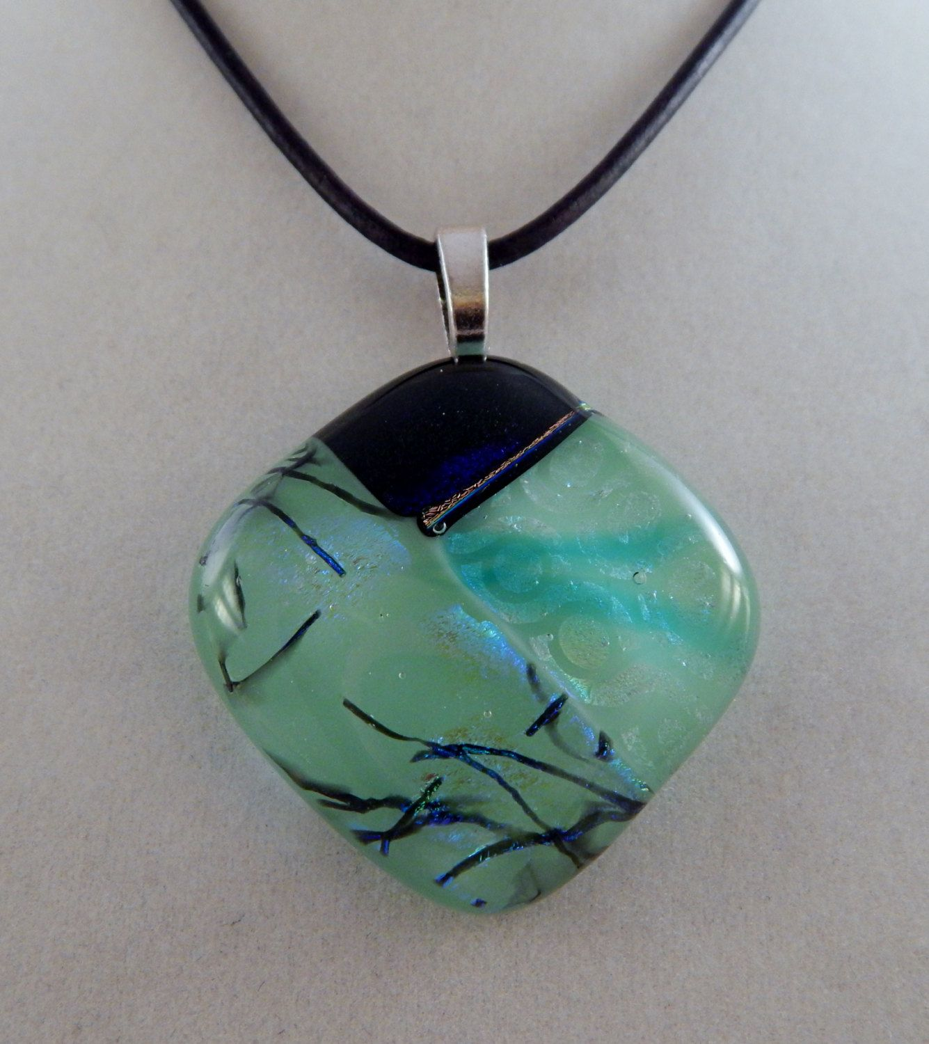 Green dichroic glass pendant by zacintheboxcreations on etsy green dichroic glass pendant by zacintheboxcreations on etsy aloadofball Gallery