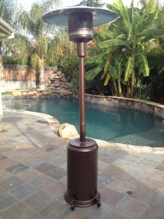 Amazon.com : Fire Sense Hammer Tone Bronze Commercial Patio Heater : Patio,  Lawn U0026 Garden