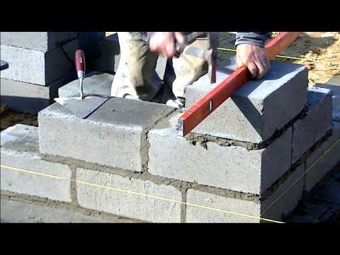 Building A Concrete Block Foundation Bob Vila Youtube Concrete Block Foundation Building A House Building A Pool