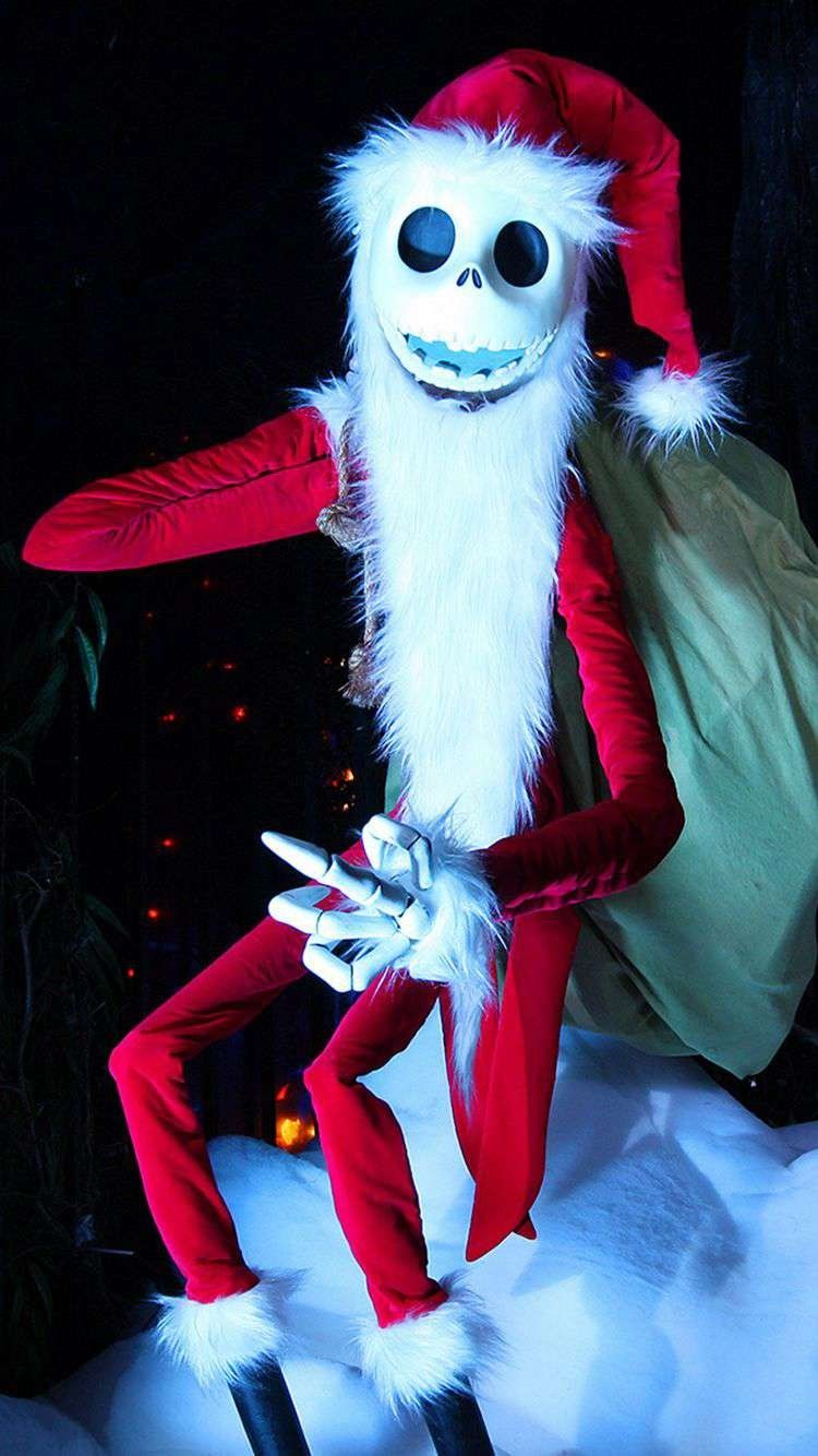 Santa Jack Skellington 2014 Halloween iPhone 6 Wallpapers ...
