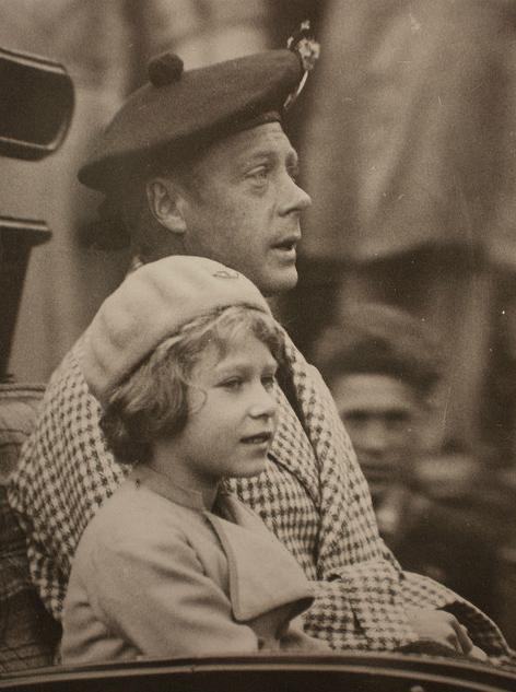 Queen Elizabeth II with her uncle Edward VIII | Elizabeth