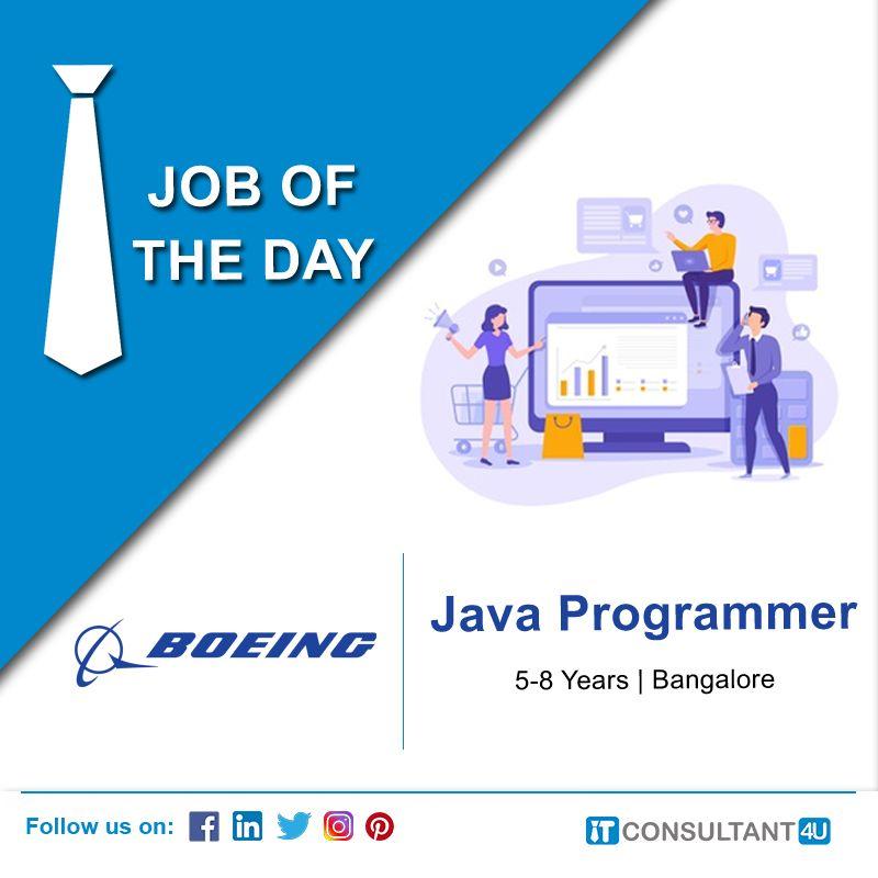 Boeing Is Hiring Javaprogrammer Itconsultant4u In 2020 Help Finding A Job Job Seeker Job Posting