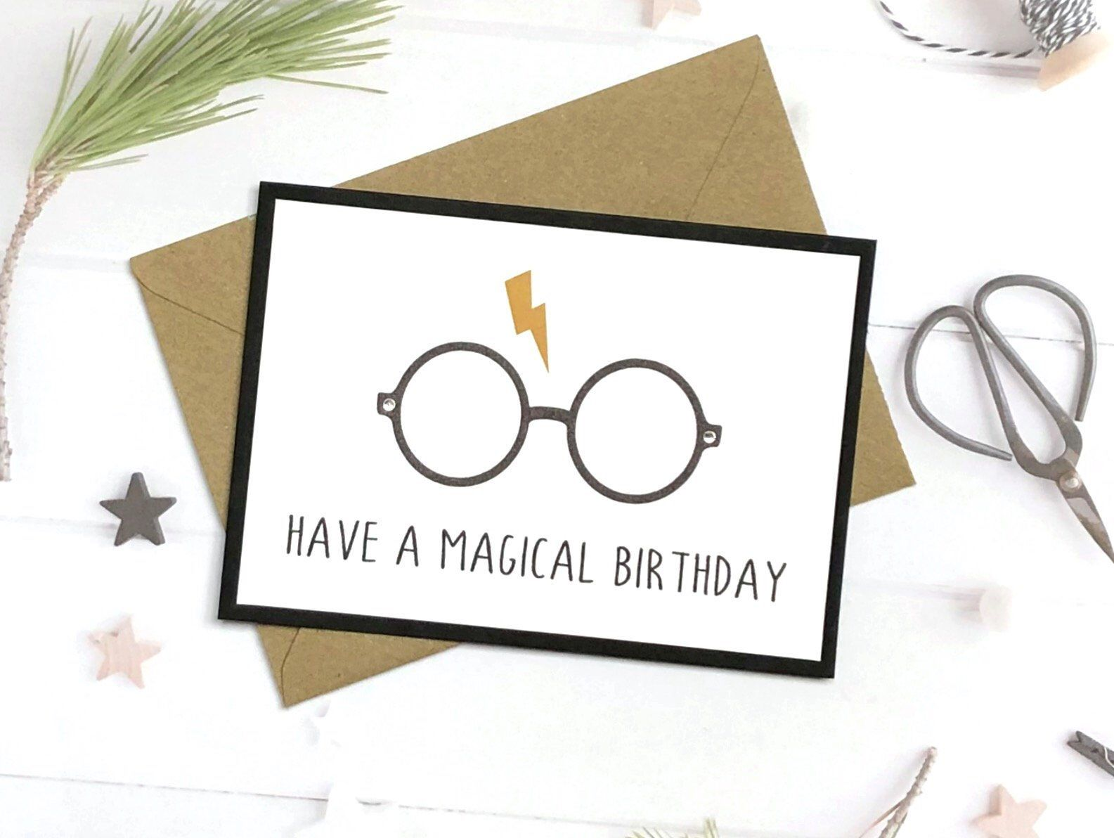 Excited To Share This Item From My Etsy Shop Harry Potter Birthday Card