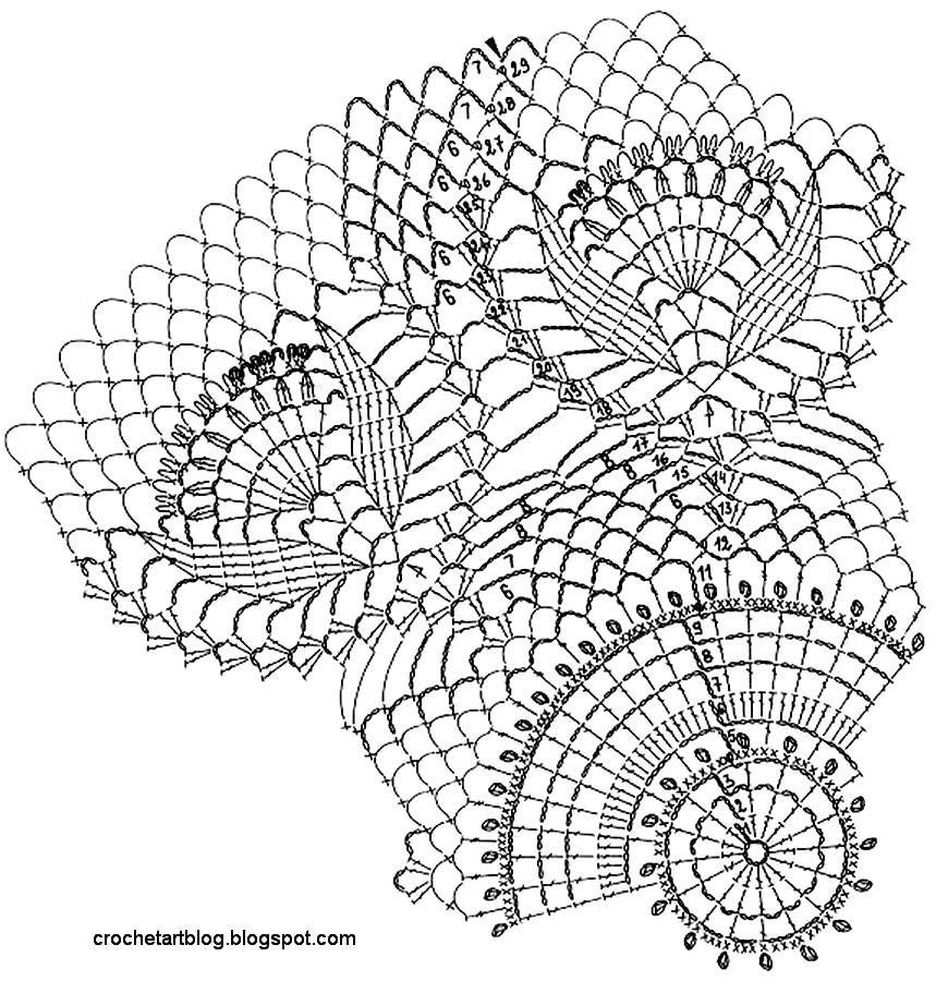 crochet large square doily patterns