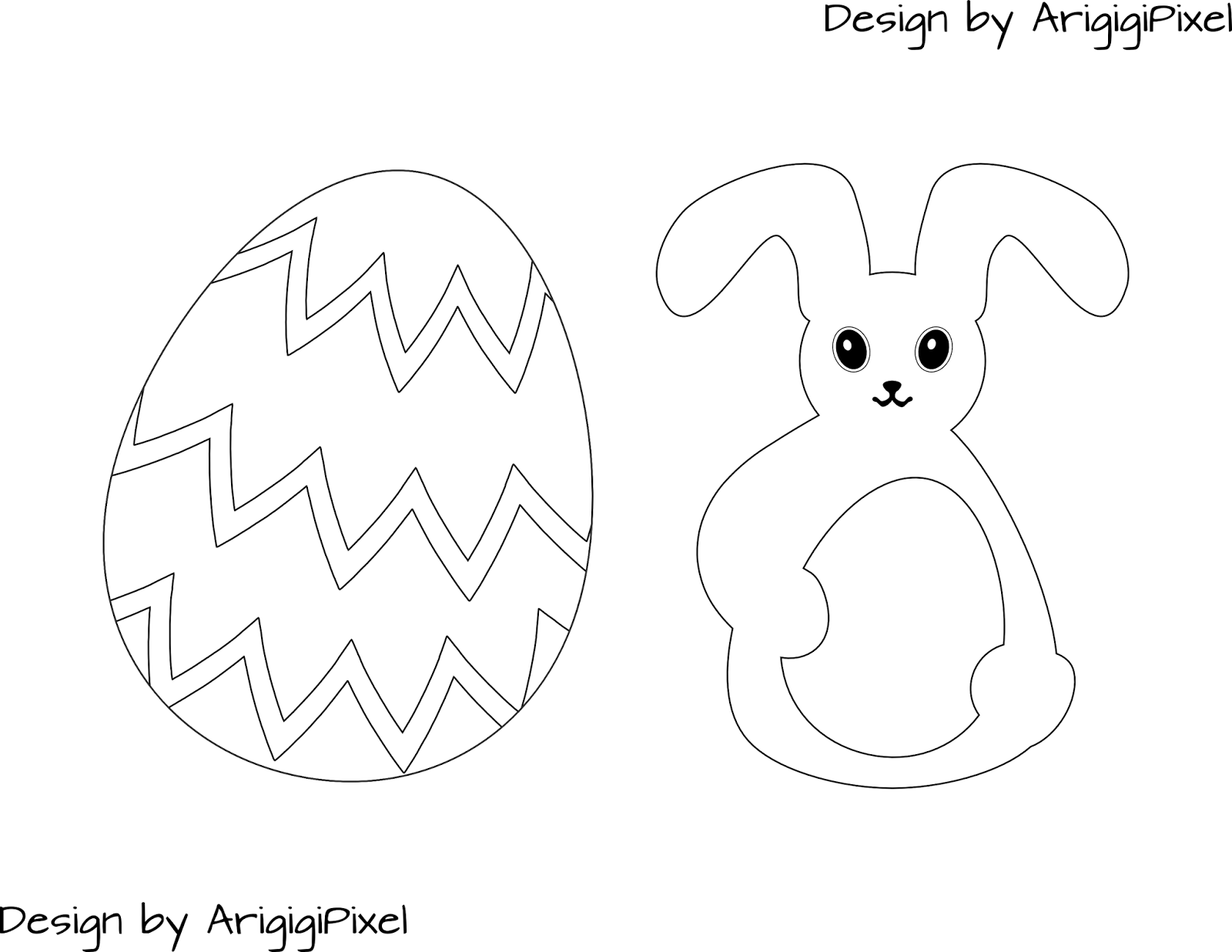 ArigigiArt: Free Easter Coloring Page | Free Easter Graphics | Pinterest