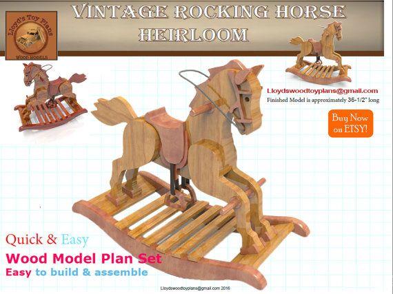 Vintage Rocking Horse Wood Rocking Horse Plans Wood Toys Plans