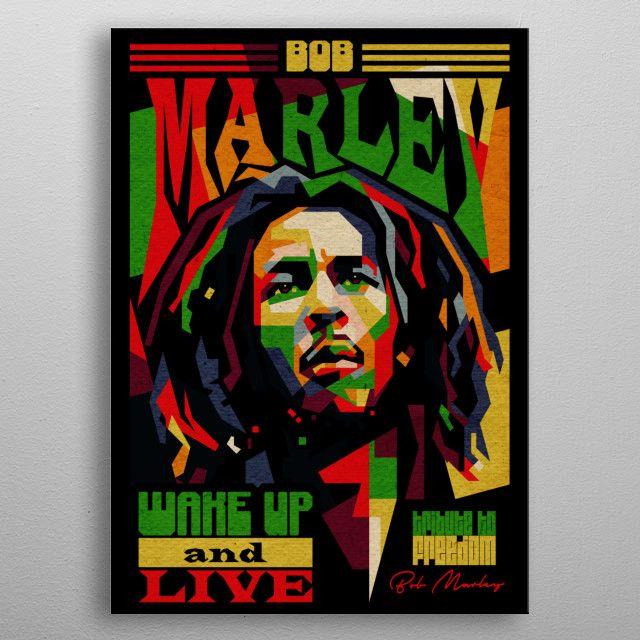 bob marley poster #vintage #reggae #legend #marley #walldecor #displate #metalposter   Displate thumbnail