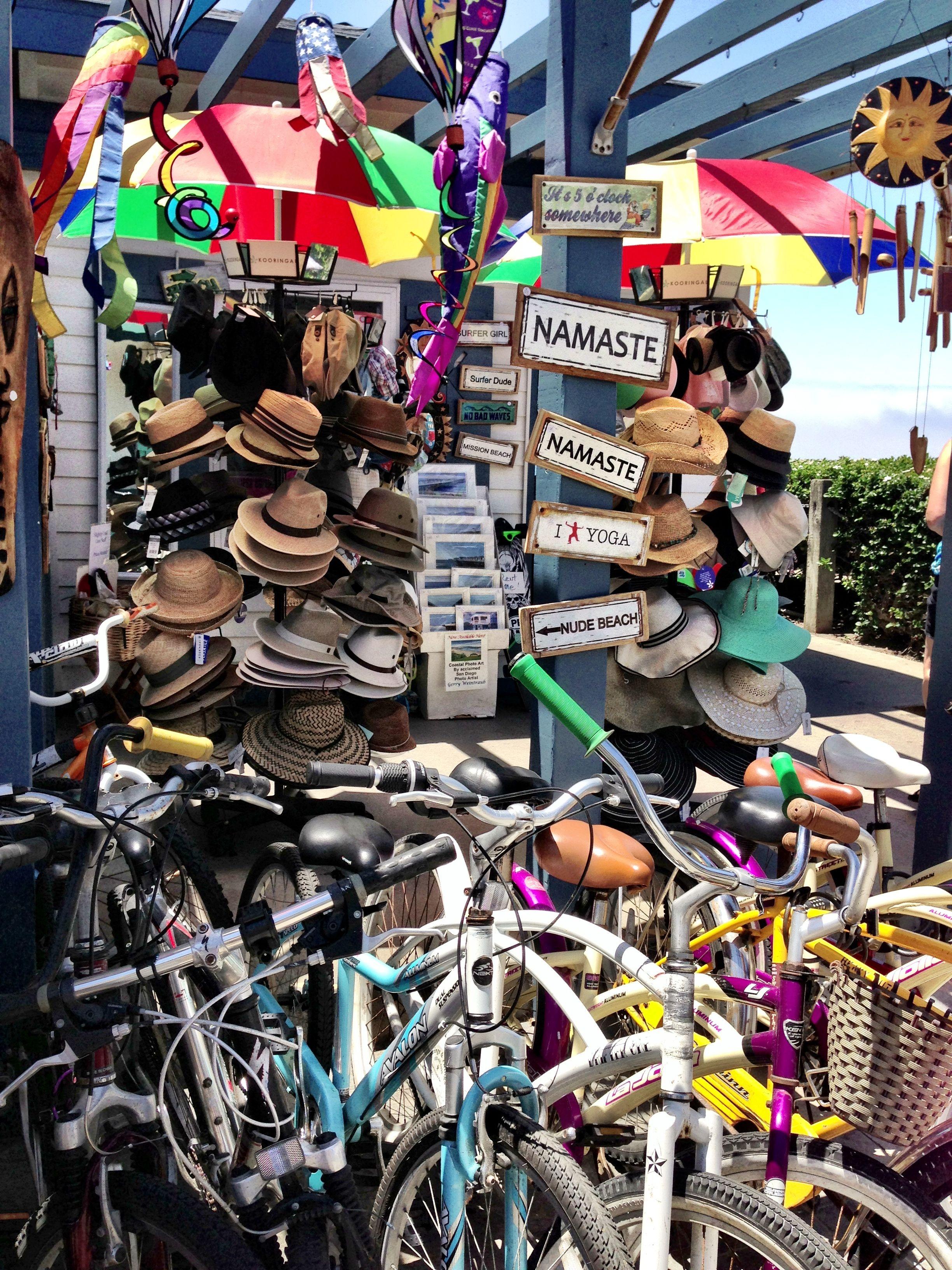 Cute bike rental in pacific beach ca socal road trip