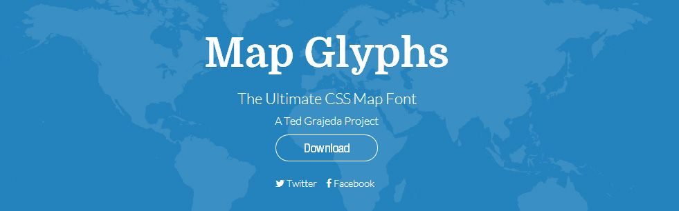 Map Glyphs   The Ultimate CSS Map Font  http://mapglyphs.com/