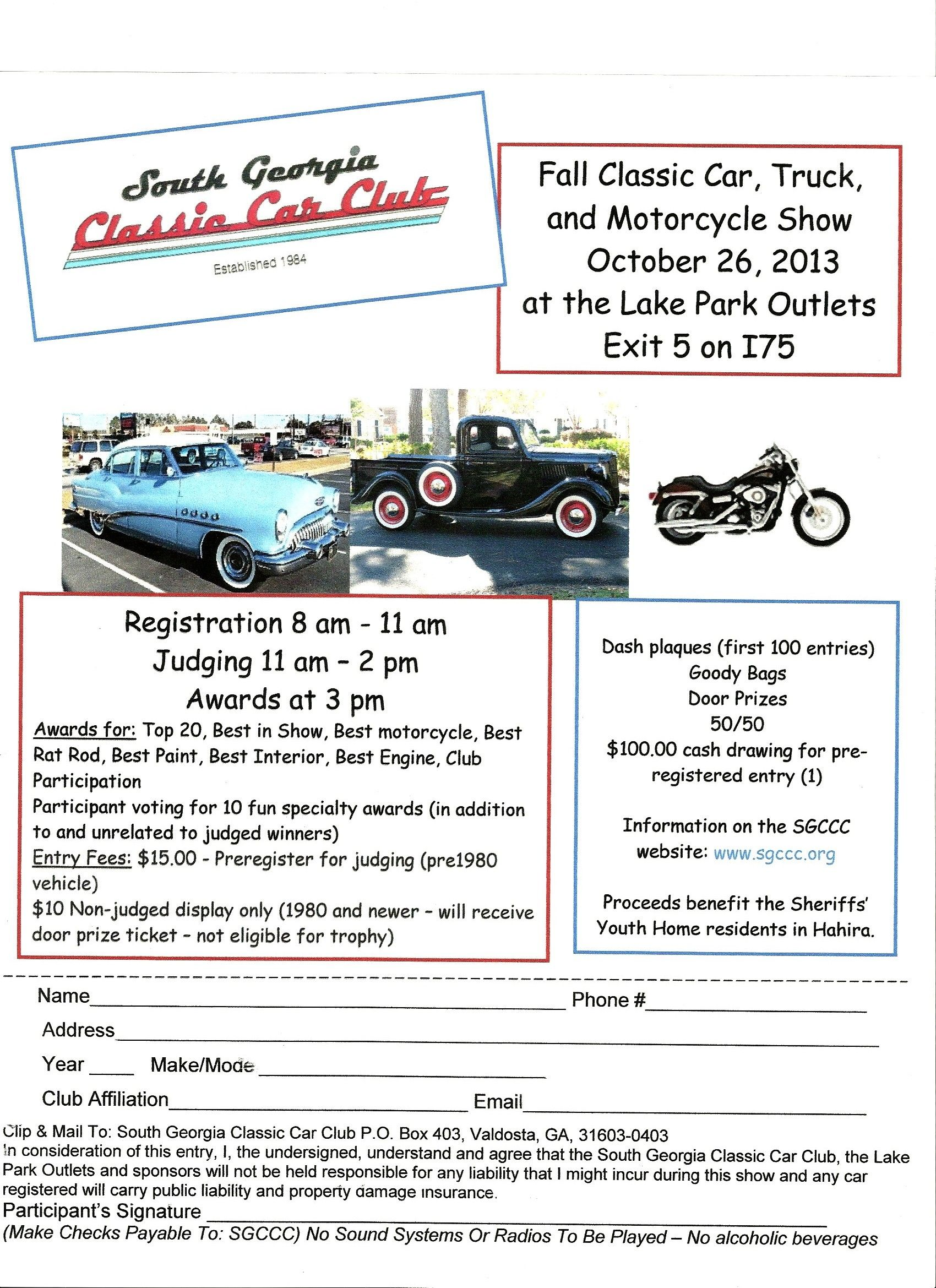 Fall Classic Car Show Motorcycle Show Truck Show Lake - Car show dash plaque display