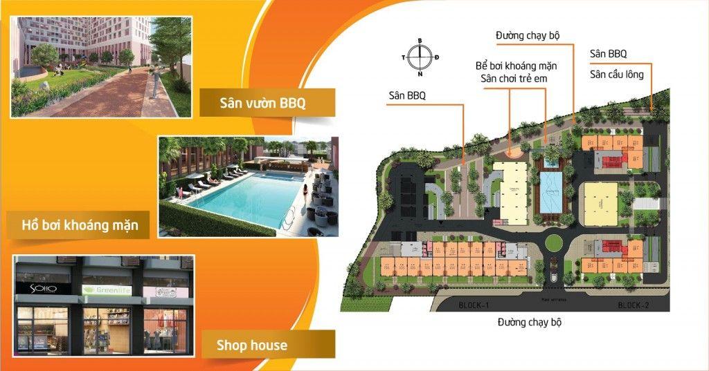 Những tiện ích nội khu first home Premium: hồ bơi, sân vườn BBQ,...