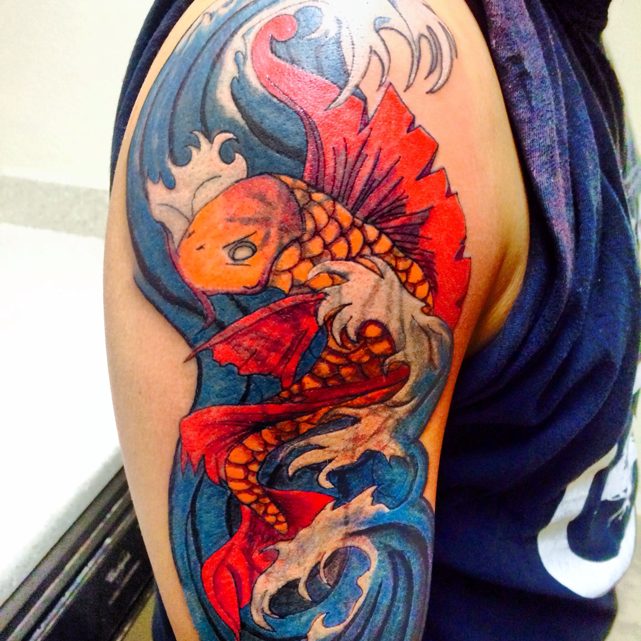 Cover up koi fish tattoo   My tatts   Pinterest   Koi fish tattoo ...