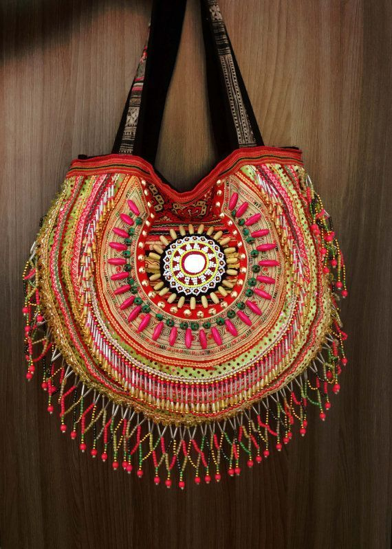 Shopping bag boho cary bag Bag with tribal pattern Boho Tote bag