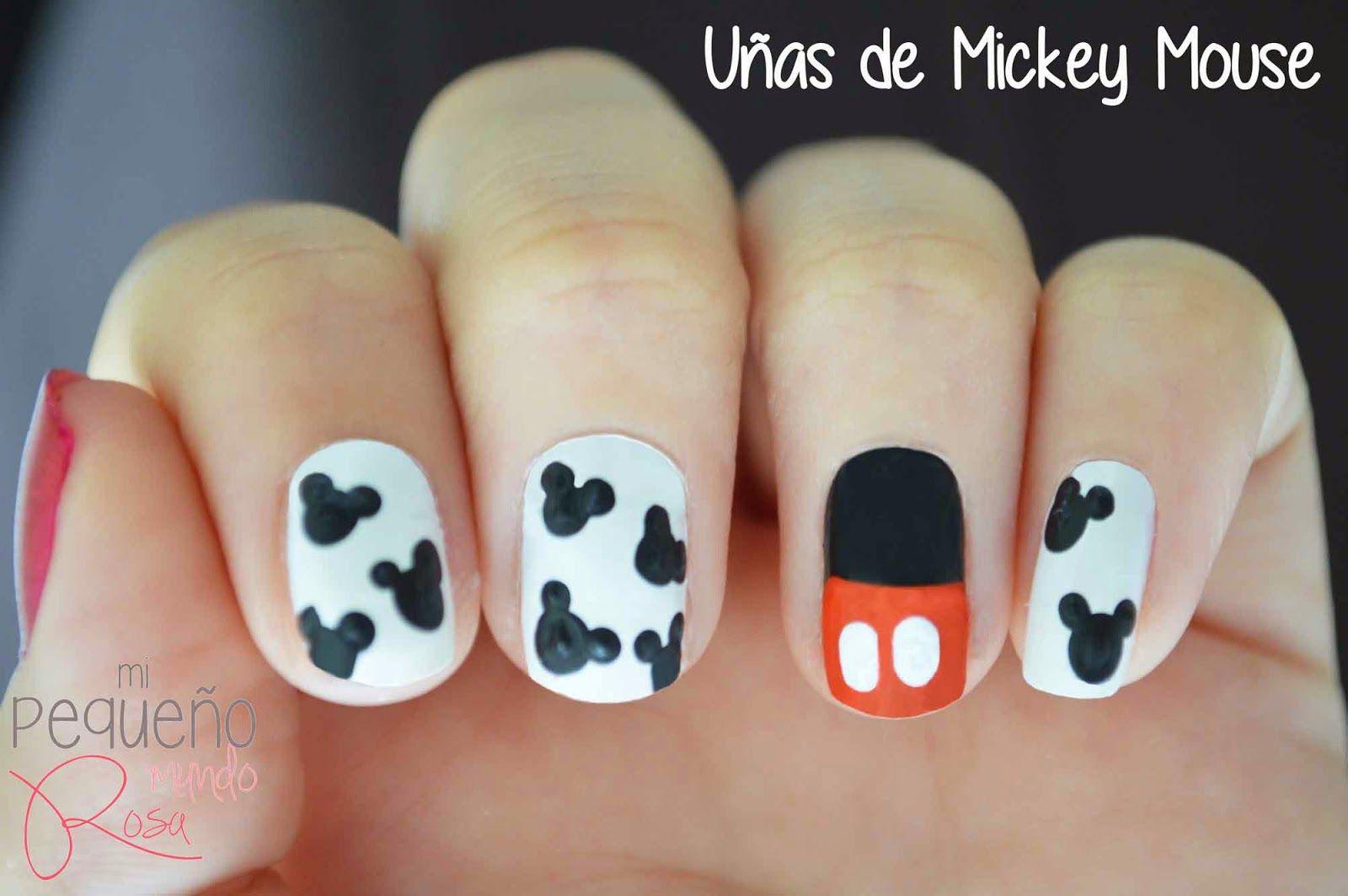 Mi pequeño mundo rosa ♥: Diseño de uñas de Mickey Mouse ♥ | Diseño ...