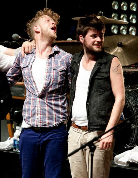 Ted, Winston, and Winston's banjo tattoo in Verona.