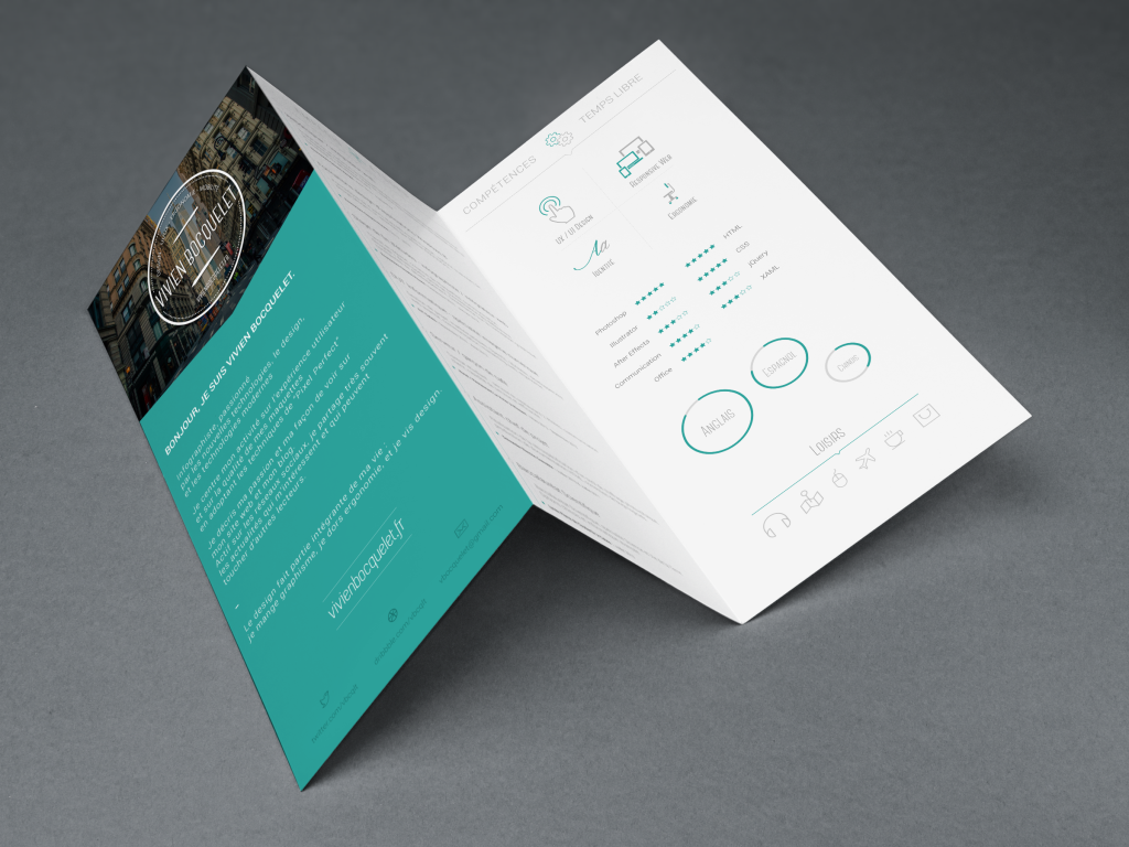 Impressive and creative CV template design. It\'s ready to present ...