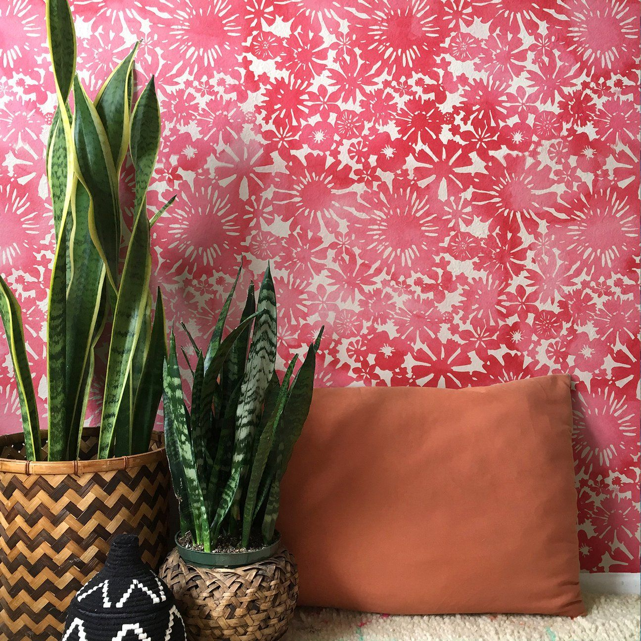 Stencil Designs And Pretty Pattern For A Colorful Room Makeover That S Cheaper Than Wallpaper Wall S In 2021 Stencils Wall Stencil Painting On Walls Diy Wall Painting