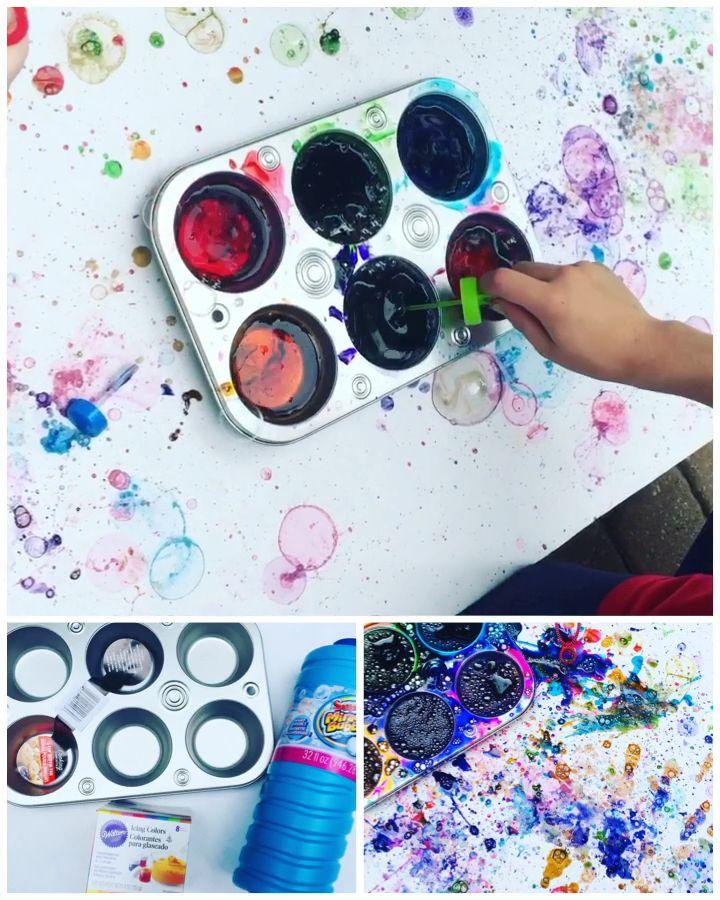 Bubble Painting - Fun Summer Activity