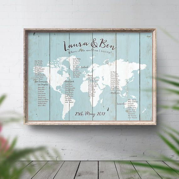 Wedding seating chart world map table plan seating plan travel wedding seating chart world map table plan seating plan travel theme decor travel table decor destination wedding themed decor rustic gumiabroncs Gallery