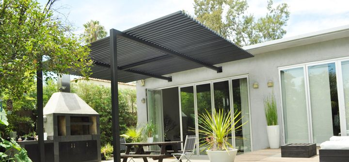 6) Contemporary, Steel, Open Lattice Patio Cover From Patios4all.com