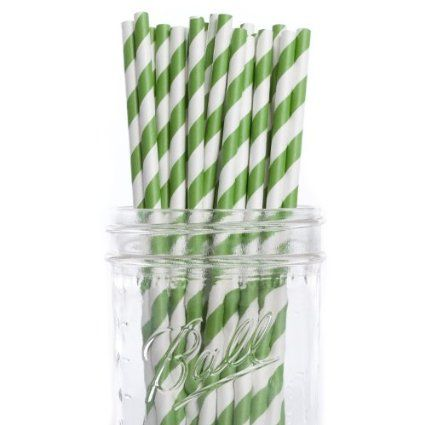 FOOD - LUNCH. Amazon.com: Dress My Cupcake Forest Green Striped Paper Straws, 25-Pack: Kitchen & Dining