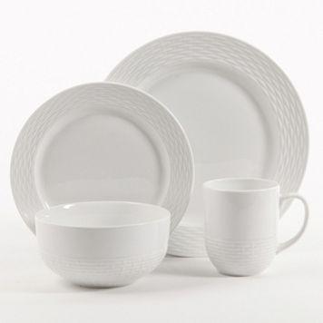 Food Network™ Basketweave 16-pc. Porcelain Dinnerware Set & Food Network™ Basketweave 16-pc. Porcelain Dinnerware Set | A Cooku0027s ...