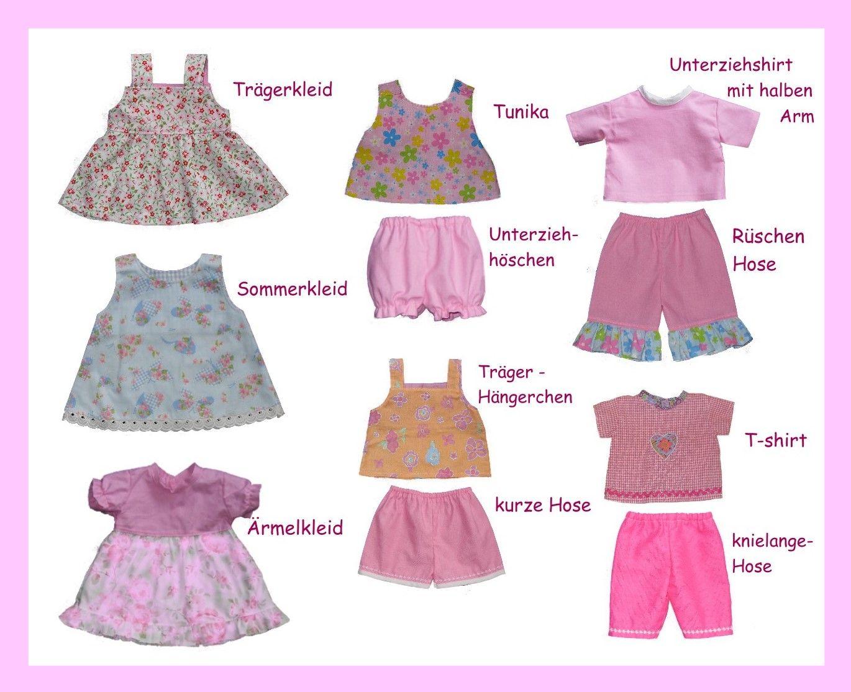 Schnittmuster für 38 Puppenmodelle / Gr. 43 cm | Puppenkleidung ...