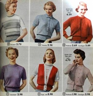 VINTAGE KNITTING PATTERNS LADYS SWEATER CARDIGANS TOPS 30 DESIGNS TO CHOOSE FROM