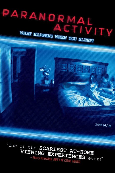 Paranormal Activity Movie Poster - Katie Featherston, Micah Sloat, Mark Fredrichs  #ParanormalActivity, #MoviePoster, #Horror, #OrenPeli, #KatieFeatherston, #MarkFredrichs, #MicahSloat
