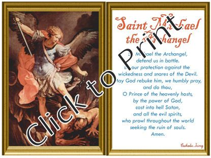 photograph regarding St. Michael the Archangel Prayer Printable known as Printable St. Michael Prayer Playing cards (Absolutely free!) Instruction