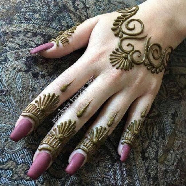 Easy arabic mehendi designs for left hand also  think this design is simple but you will need some practice before rh pinterest