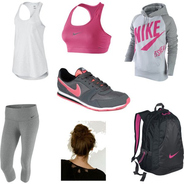 workout attire, created by vspratte on Polyvore