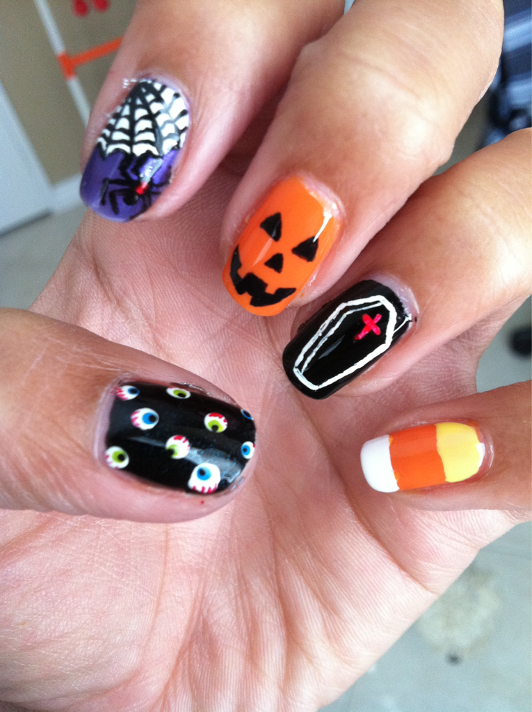 Halloween nails | Nails | Pinterest | Finger nail art, Girls nails ...