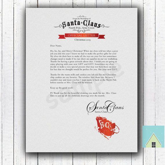 Letter From Santa Lettering Santa Letter Kids Christmas