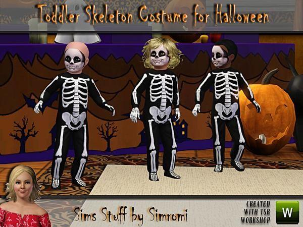simromi's Toddler Skeleton Halloween Costume