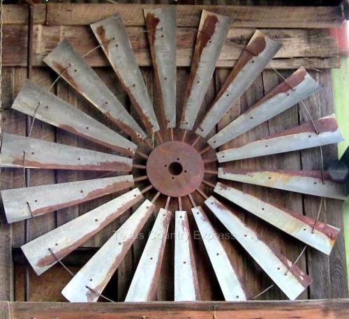 60 Rustic Windmill Head Fan Blades Western Ranch Barn Farmhouse