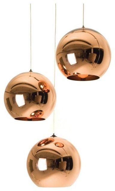 Copper Shade Pendant by Tom Dixon.