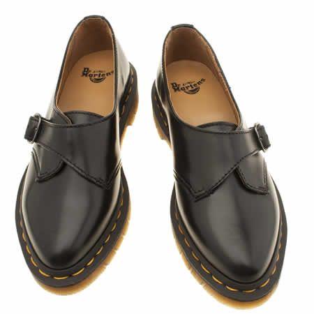womens dr martens black agnes pointed monk shoe flats